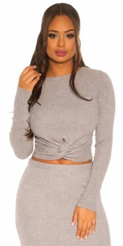 Chandail tricoté - grey