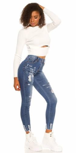 Print Jeans - blue