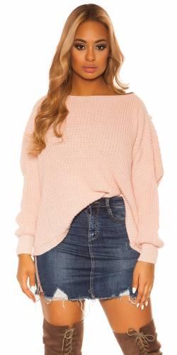 Chandail tricoté - rose