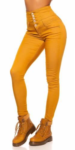 High Waist Jeans Disha - jaune