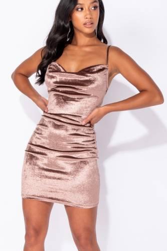 Bodycon Minikleid - light brown