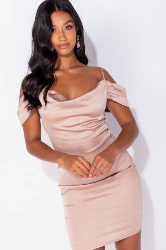 Bodycon Minikleid - beige