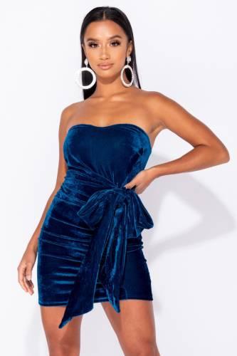 Bandeau Kleid - blau