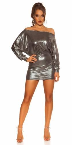 Mini-robe de fête - argent