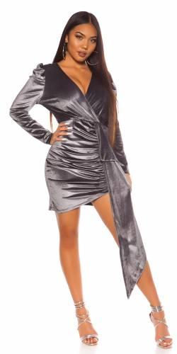 Mini-robe de fête - gris