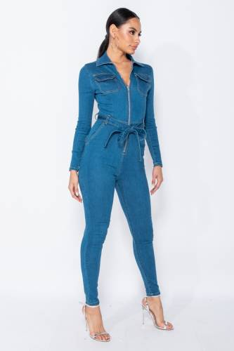 Denim Jumpsuit - bleu