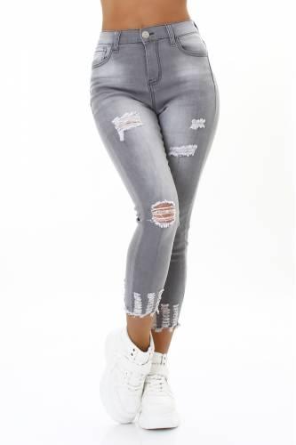 Destroyed Jeans - grey