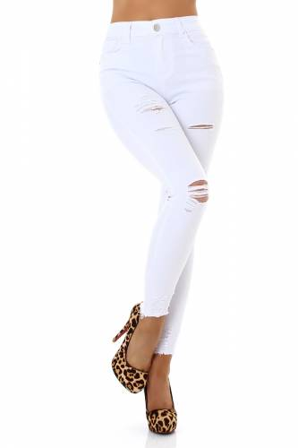 Used Look Jeans - white