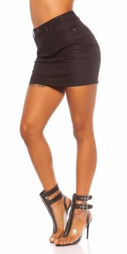 Jupe en jean Ilea - noir
