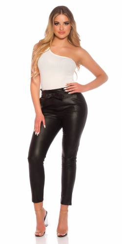 Lederlook Hose - black