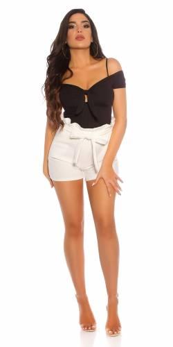 High Waist Shorts - white