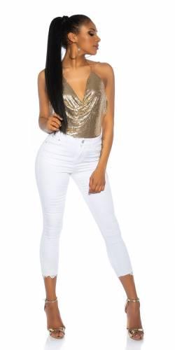 7/8 Jeans - white