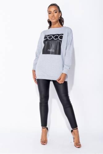 Print sweatshirt - gris