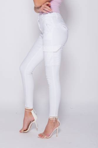Cargo Jeans - white