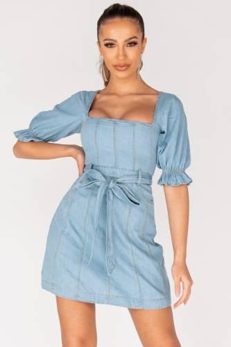 Robe en jean - bleu clair