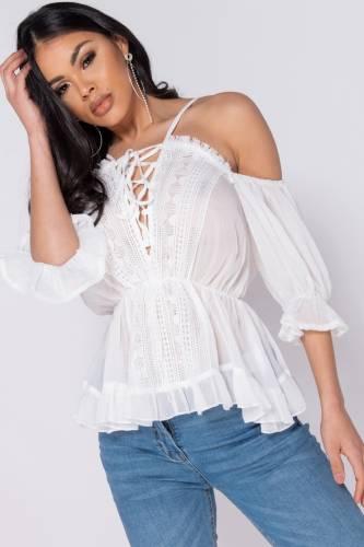 Blusen Shirt - weiss