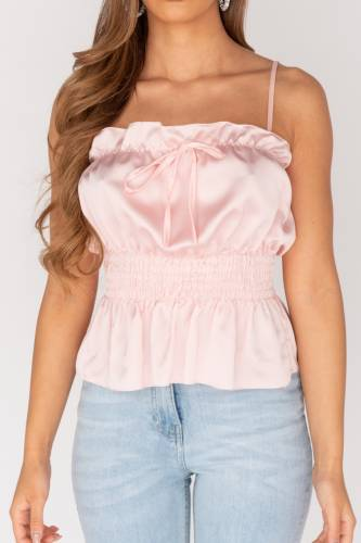 Top peplum - rose