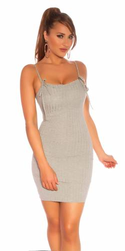 Ripp Minikleid - grey