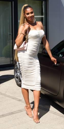 Bandeau Kleid - beige