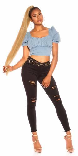 Used Look Jeans - black