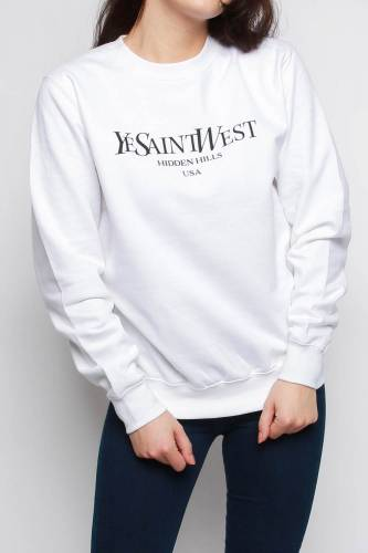 Print Sweatshirt - white