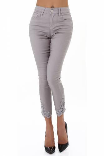 High Waist Jeans Duana - grau