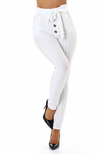 High Waist Hose - white