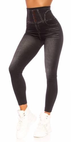 Jeanslook Leggings - black