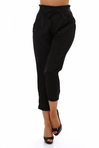 Pantalon paperbag - noir