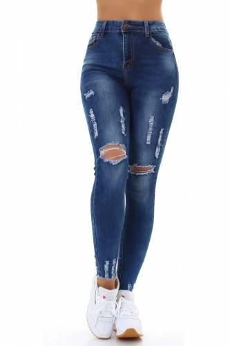 Destroyed Jeans - dark blue
