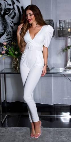 Combinaison avec ceinture - white