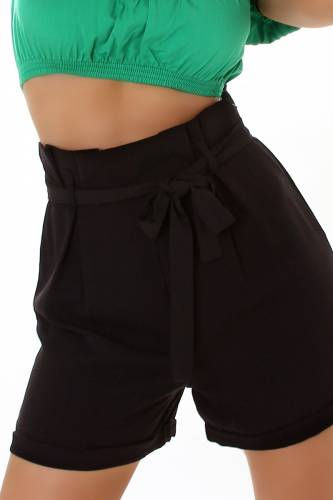 Paperbag Shorts - black