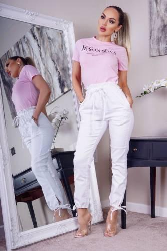 High Waist Jeans - white