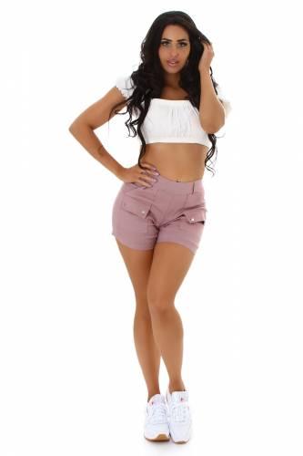 High Waist Shorts - rosa