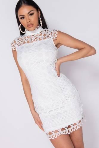 Robe en dentelle - blanc
