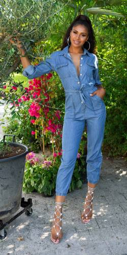 Combinaison en jean - bleu