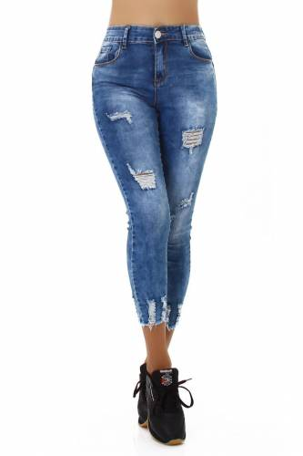 Destroyed Jeans - blau