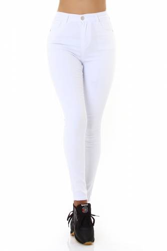 High Waist Jeans Daja - blanc