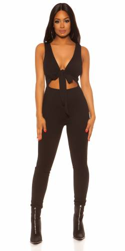 Cut-Out Overall - schwarz