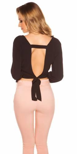 Crop Bluse - black