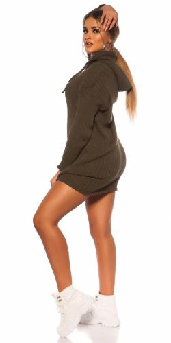 Robe tricotée - khaki