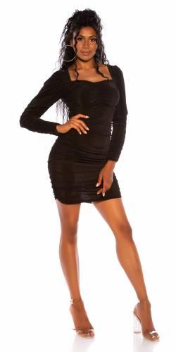 Langarm-Kleid - black