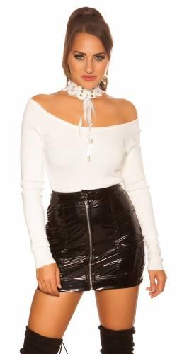 Pull tricoté - blanc