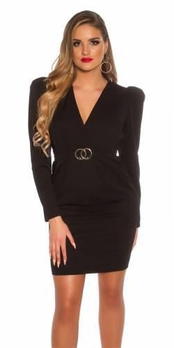 Mini robe & ceinture - black