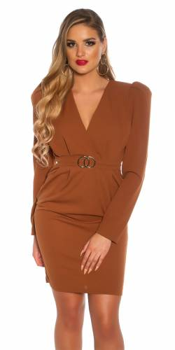 Minikleid & Gürtel - brown
