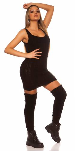 Strick Minikleid - black