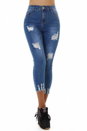 Destroyed Jeans Saron - blau
