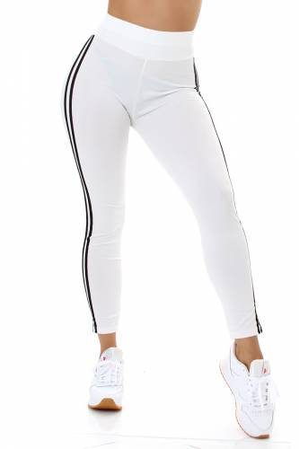 Leggings High Waist Rahel - blanc