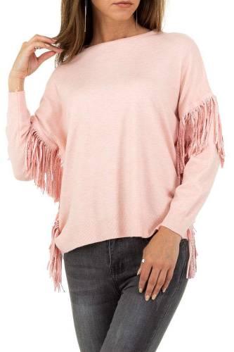 Fransen Pullover - rosa