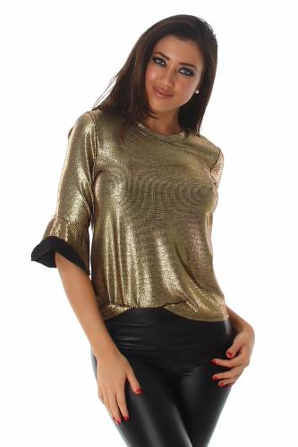Glitzer Shirt - gold